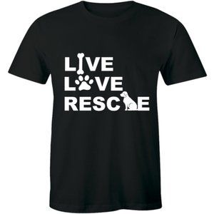 Live Love Rescue Adoption Animal Pet Dog T-shirt
